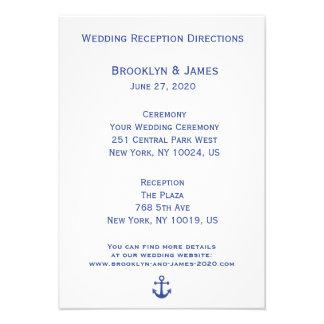 Mapas náuticos y direcciones del boda comunicados personales