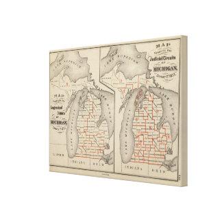 Mapas que muestran los distritos parlamentarios impresión de lienzo