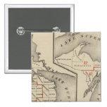 Mapas que muestran los distritos parlamentarios pin cuadrada 5 cm