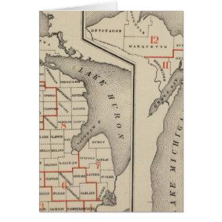 Mapas que muestran los distritos parlamentarios tarjeta