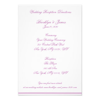 Mapas radiantees y direcciones del boda de la orqu invitación personalizada