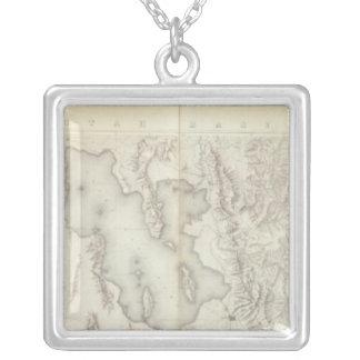 Mapas topográficos compuestos IV Collar Personalizado