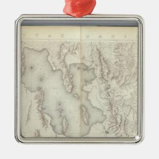 Mapas topográficos compuestos IV Ornamentos De Navidad