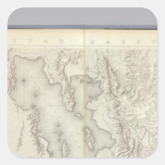 Mapas topográficos compuestos IV Pegatinas Cuadradas Personalizadas