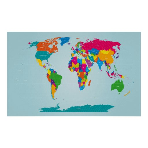 Mapf of the World Map Poster