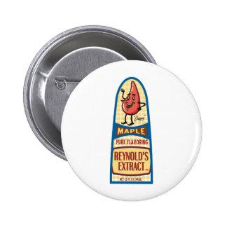 Maple 2 Inch Round Button
