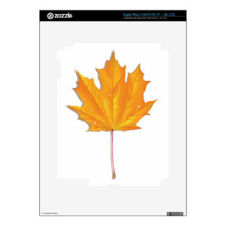 Maple autumn leaf iPad 3 decals