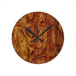 Maple Burlwood Nature Tree Wood Effect Clock