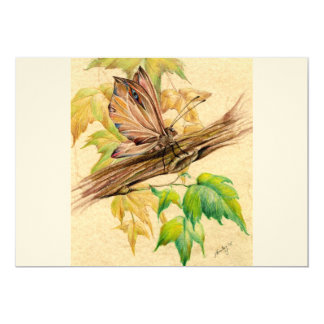 Maple Butterfly Card
