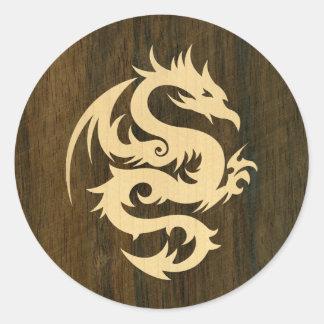 Maple Dragon Classic Round Sticker