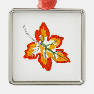 Maple Fall Leaf Metal Ornament
