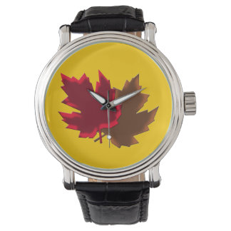 Maple fall leaves watch