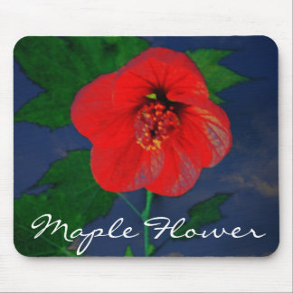 Maple Flower Mouse Pad