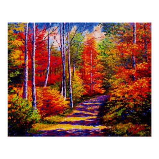 Maple Forest Road Print