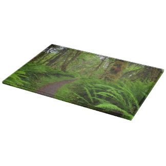 Maple Glade trail, ferns and moss covered Cutting Board