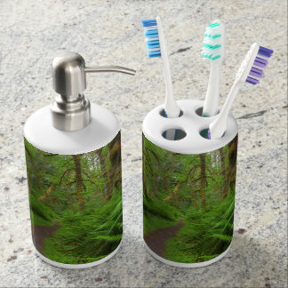 Maple Glade trail, ferns and moss covered Soap Dispenser