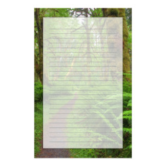 Maple Glade trail, ferns and moss covered Personalized Stationery