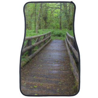 Maple Glade trail wooden bridge, ferns and Car Floor Mat