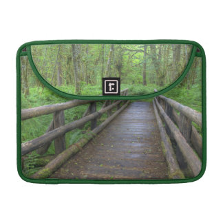 Maple Glade trail wooden bridge, ferns and Sleeve For MacBook Pro