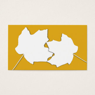 Maple Gold, Two Leaves Blank Wedding Place Cards