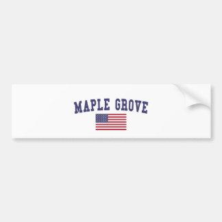 Maple Grove US Flag Bumper Sticker