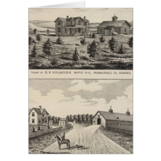 Maple Hilland Silver Spring Ranch, Kansas Greeting Card