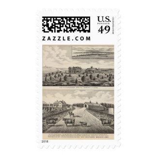 Maple Hilland Silver Spring Ranch, Kansas Postage Stamp