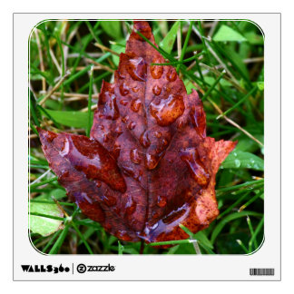 Maple Leaf After The Rain Wall Sticker
