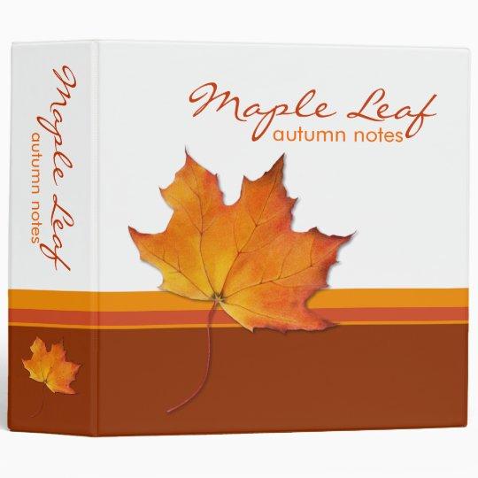 Maple Leaf Avery Binder