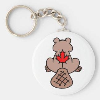 Maple Leaf Beaver Keychain