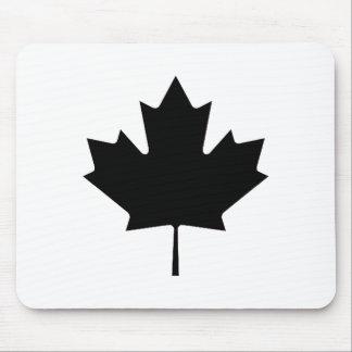 Maple Leaf Black Transp jGibney The MUSEUM Zazz Mouse Pad
