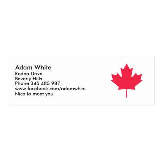 Maple leaf business card templates