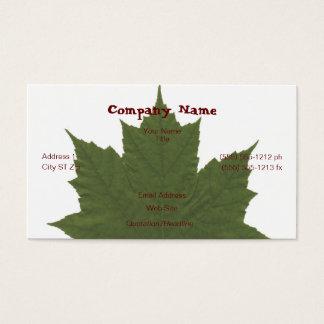Maple Leaf Business Card