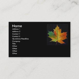 Maple leaf business cards zazzle maple leaf business card colourmoves