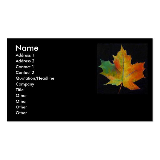 Maple leaf business card zazzle for Leaf business cards