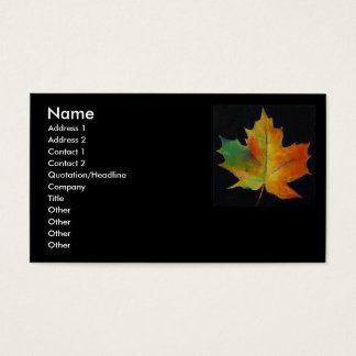 Maple Leaf Business Card