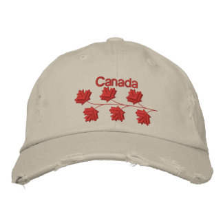 Maple Leaf Canada Embroidered Baseball Hat