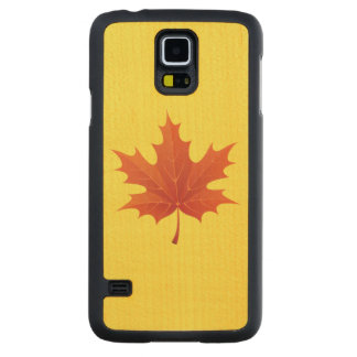 Maple Leaf Carved Maple Galaxy S5 Slim Case