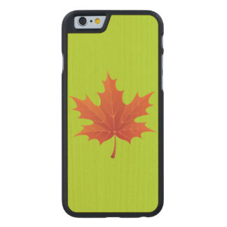 Maple Leaf Carved Maple iPhone 6 Slim Case