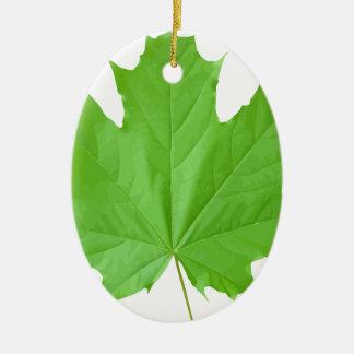 Maple Leaf Ceramic Ornament