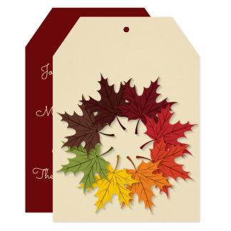 Maple leaf circle card