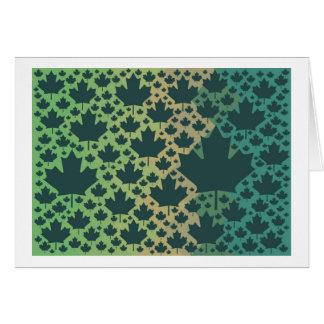 Maple Leaf Design ♥ Green Canada, template Cards
