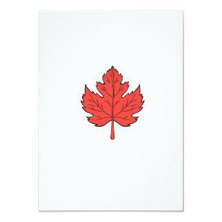 Maple Leaf Drawing Card