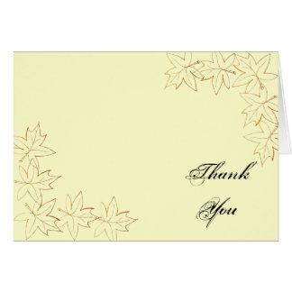 Maple Leaf Edge Bridesmaid Thank You Card
