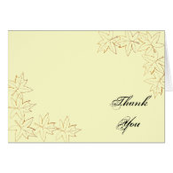 Maple Leaf Edge Bridesmaid Thank You Note Card