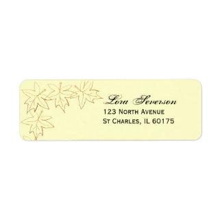 Maple Leaf Edge Return Address Label