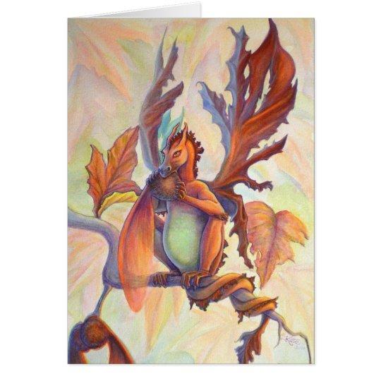 Maple leaf Fairy Dragon Card