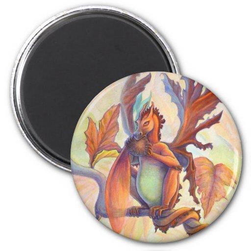 Maple leaf Fairy Dragon Fridge Magnets