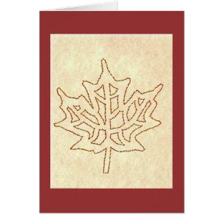 MAPLE LEAF FALL GREETING CARD