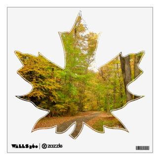 Maple Leaf Fall Path Wall Decal